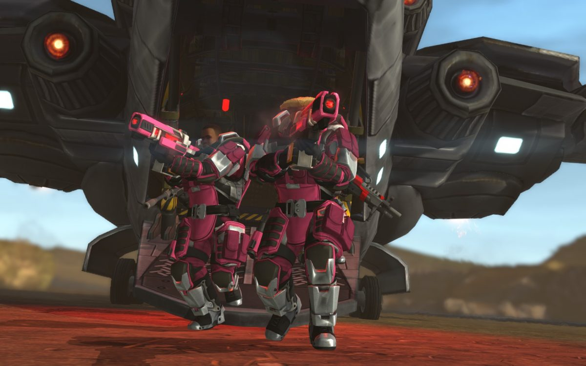 Pink terror matches my Red Lazers