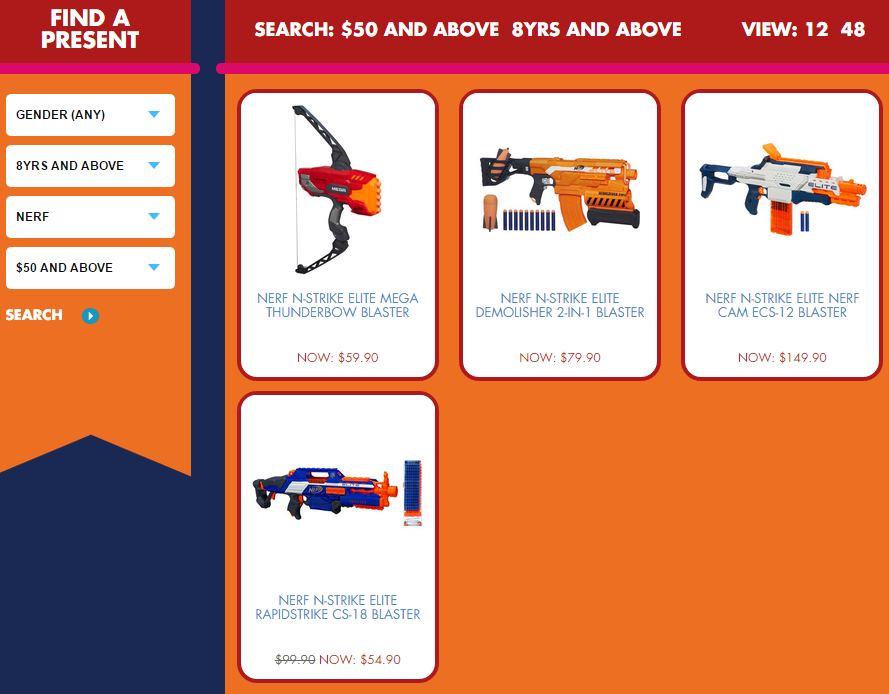 hasbroxmastoyland featured no presents for me nerf