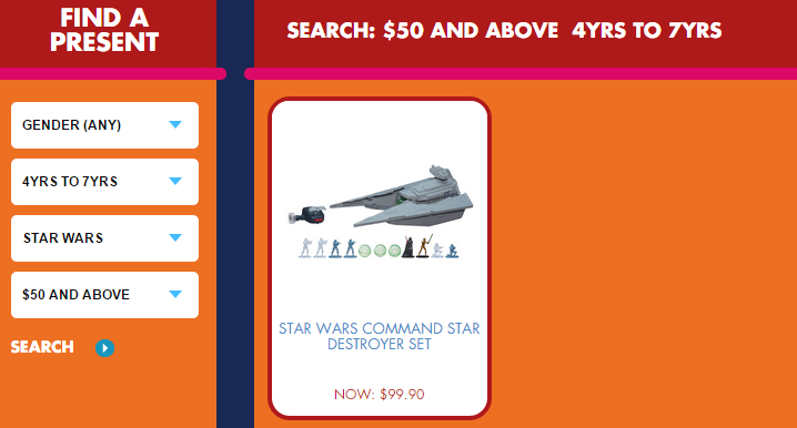 hasbroxmastoyland featured no presents for me starwars old