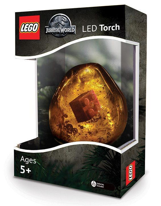 lego brick in amber LED