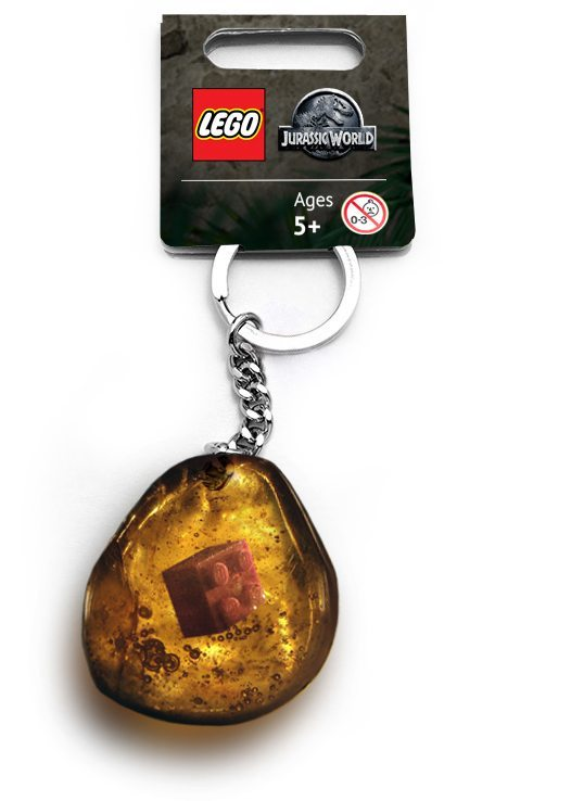 lego brick in amber keychain