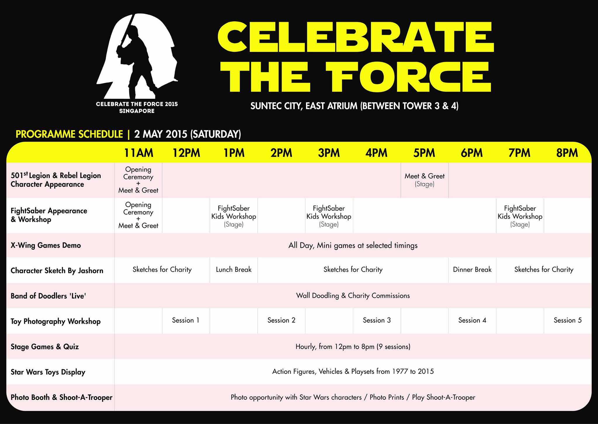 Celebrate the Force May the 4th 2015 Singapore Day 1 May 2
