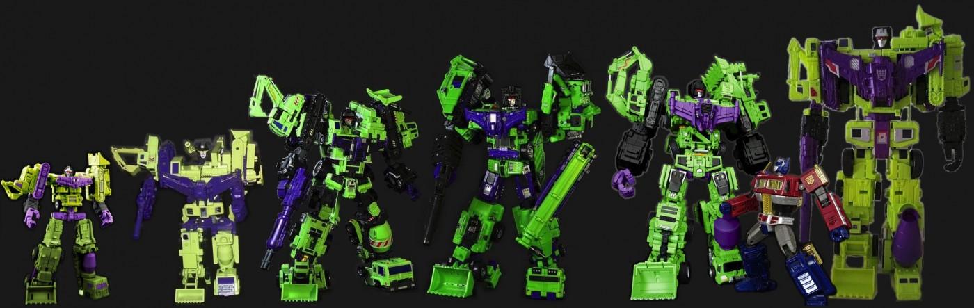 Hulkie, G1, Green Giant, Hercules, Gravity Builder, Devastator