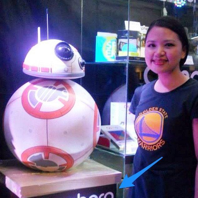 BB-8 sphero scale