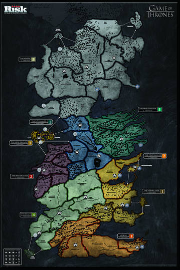 game of thrones risk game board westeros