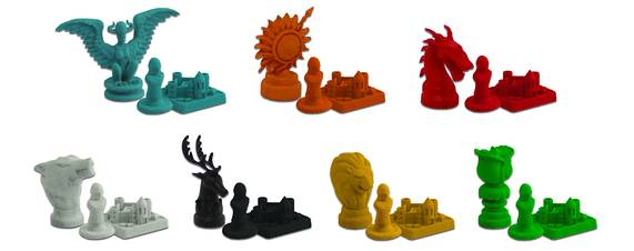 game of thrones risk pieces tokens