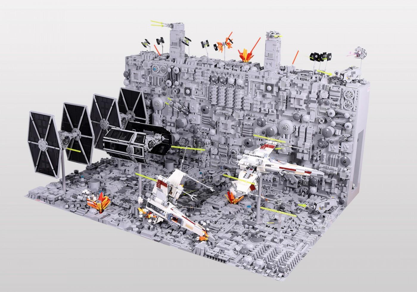 amazing lego star wars death star trench run diorama geek culture. Black Bedroom Furniture Sets. Home Design Ideas