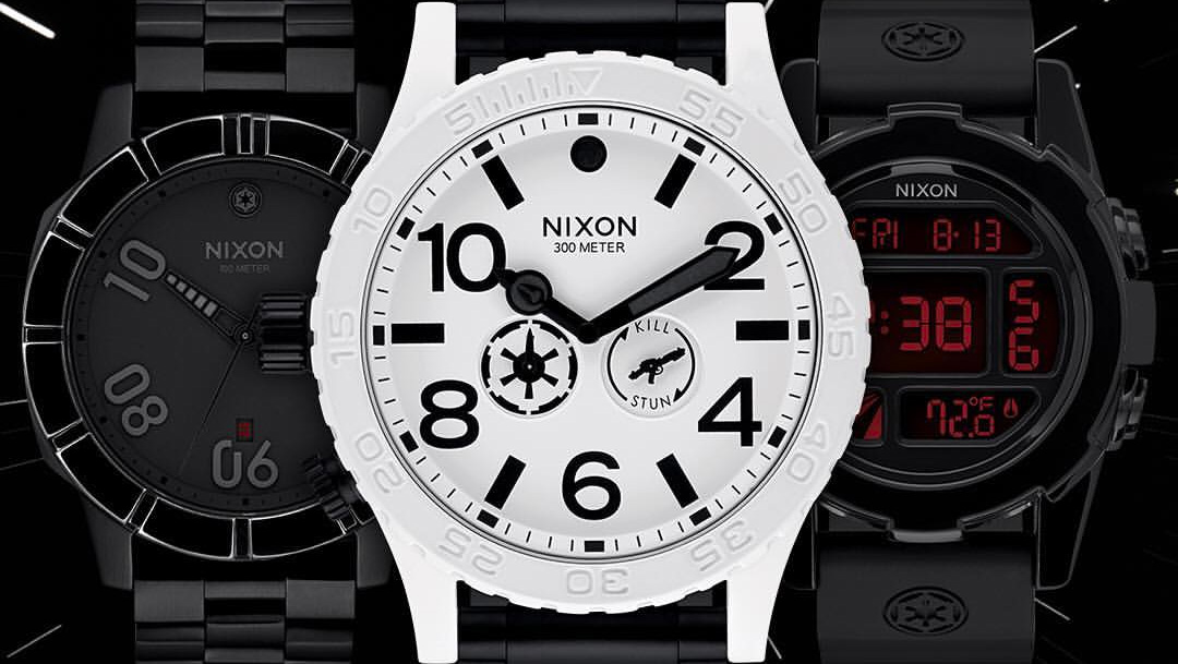 these star wars nixon watches will lure you to the dark. Black Bedroom Furniture Sets. Home Design Ideas