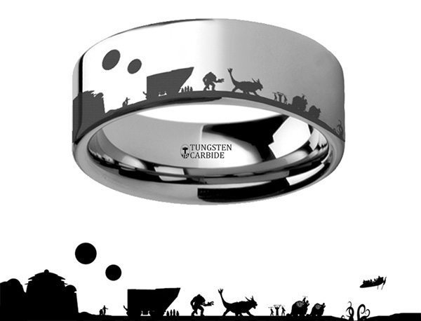 Tatooine Tungsten Carbide Engraved Ring