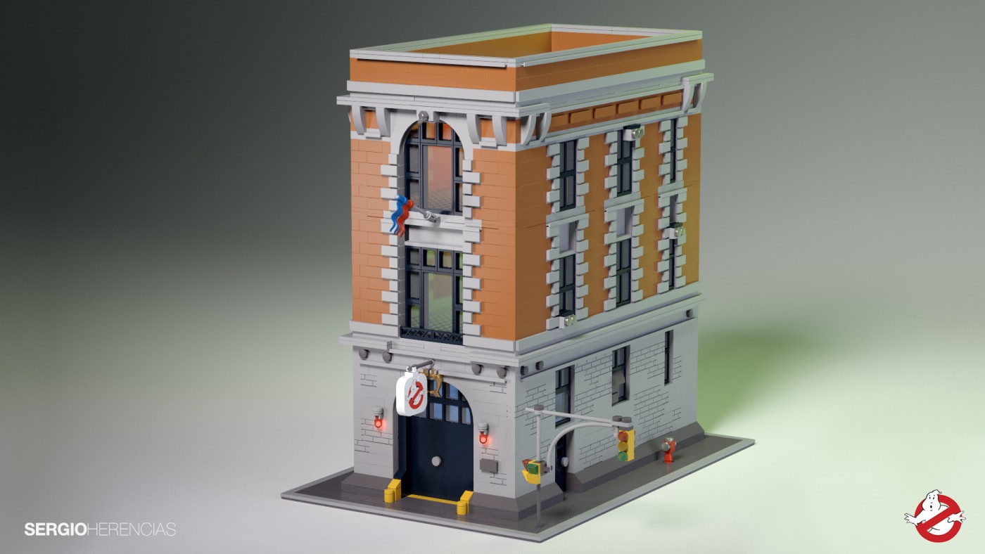 Minecraft House Blueprints Layer By Layer Lego Ghostbusters Modular Firehouse Hq Set 75827 Revealed