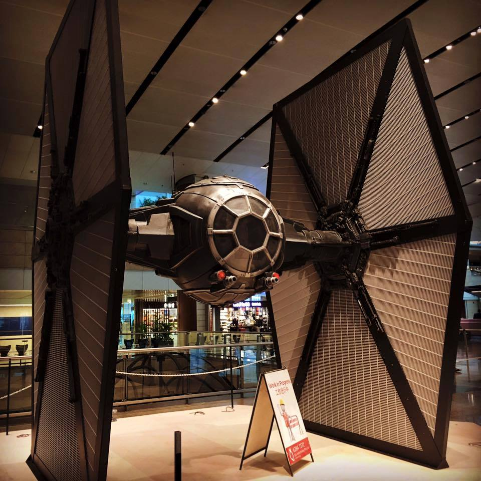 changi airport first order tie fighter