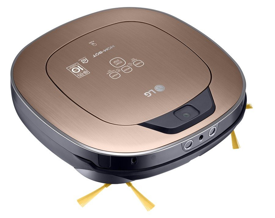 LG HOM-BOT Turbo+_Left Overview_Metal Gold
