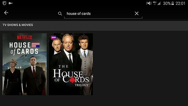 House of Cards (with VPN)