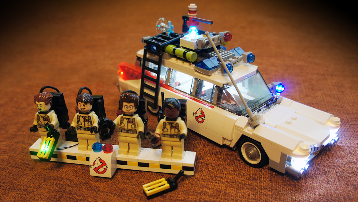 pimp your lego ghostbusters ecto 1 21108 with led blocks. Black Bedroom Furniture Sets. Home Design Ideas
