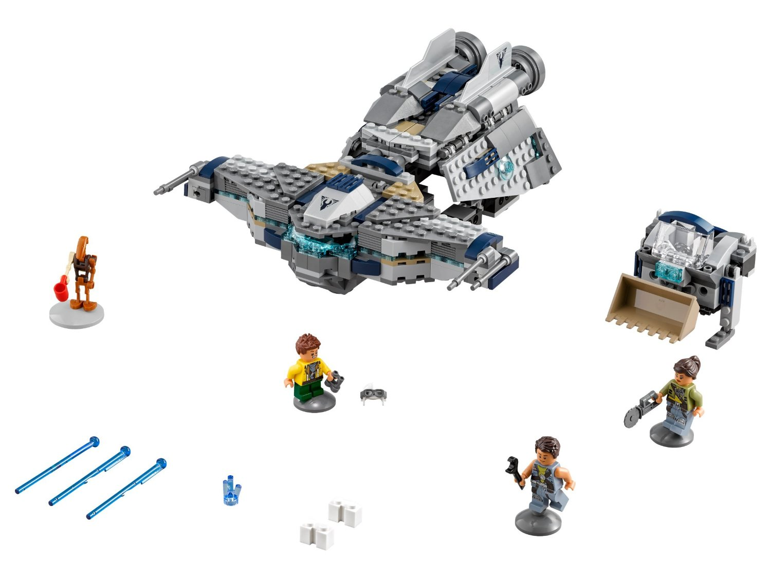 75147- lego star wars-star scavenger minifigs