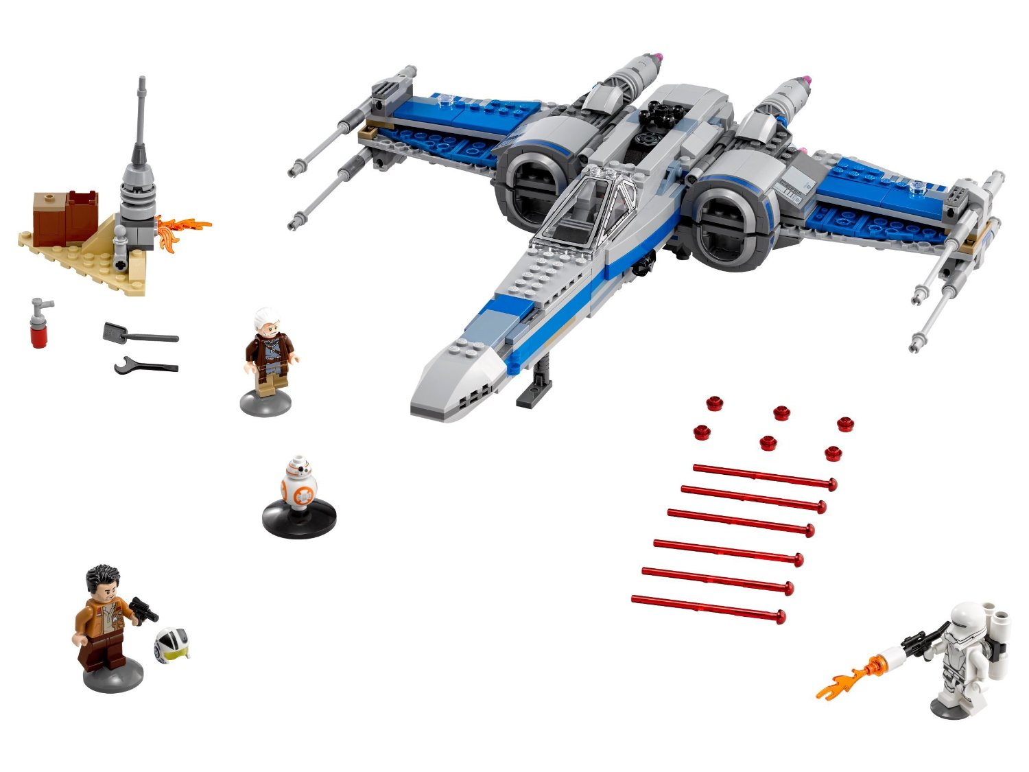 75149-lego star wars xwing fighter resistance box minifigs