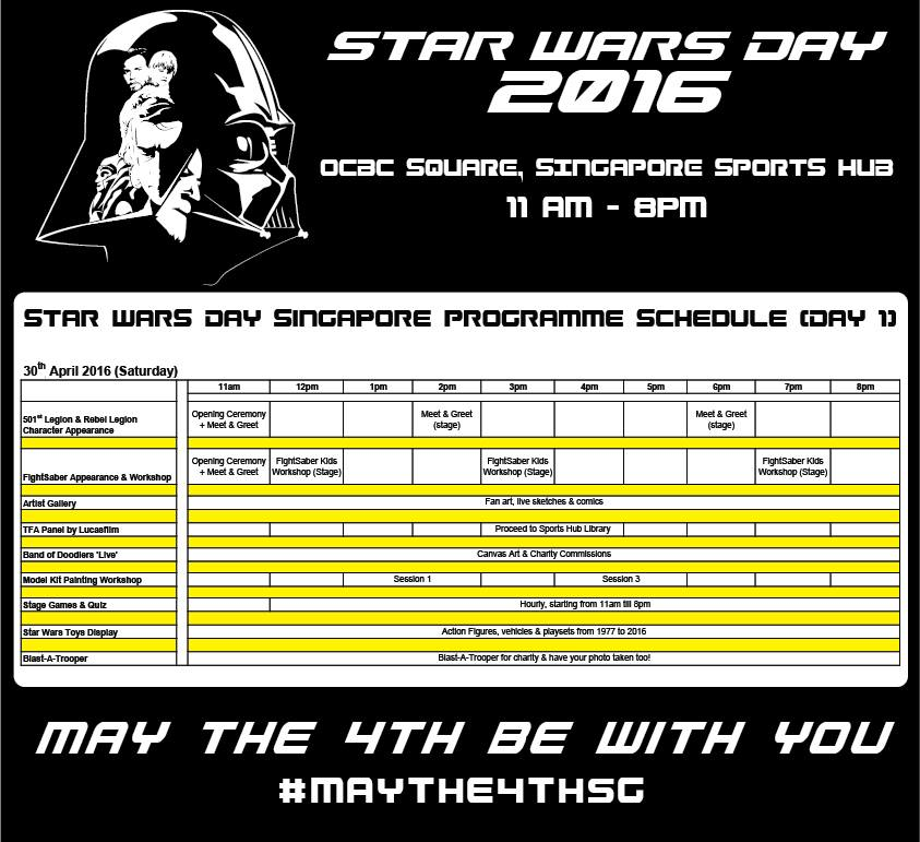 star wars day singapore 2016 day 1
