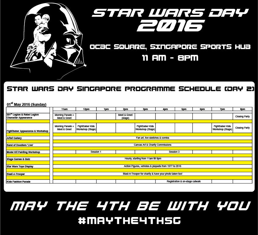 star wars day singapore 2016 day 2