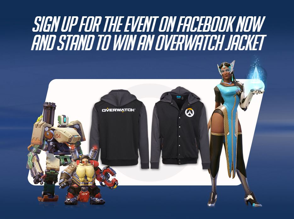 overwatch singapore launch event jacket