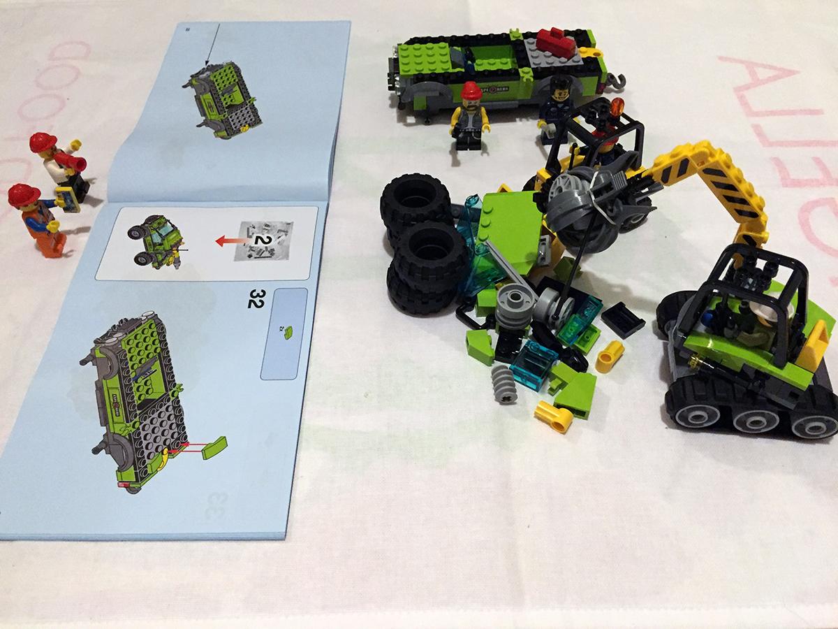 lego city bulldozer break in instructions