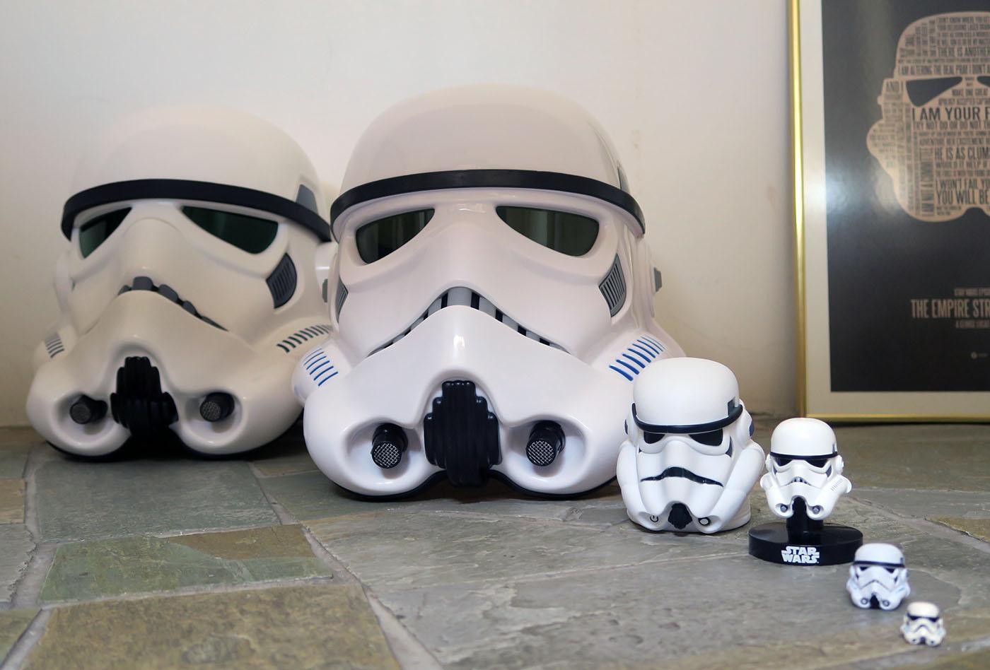 A look at Stormtrooper helmets From far right Lego stormtrooper helmet; Black Series & Geek Review: Hasbro Black Series Imperial Stormtrooper Helmet | Geek ...