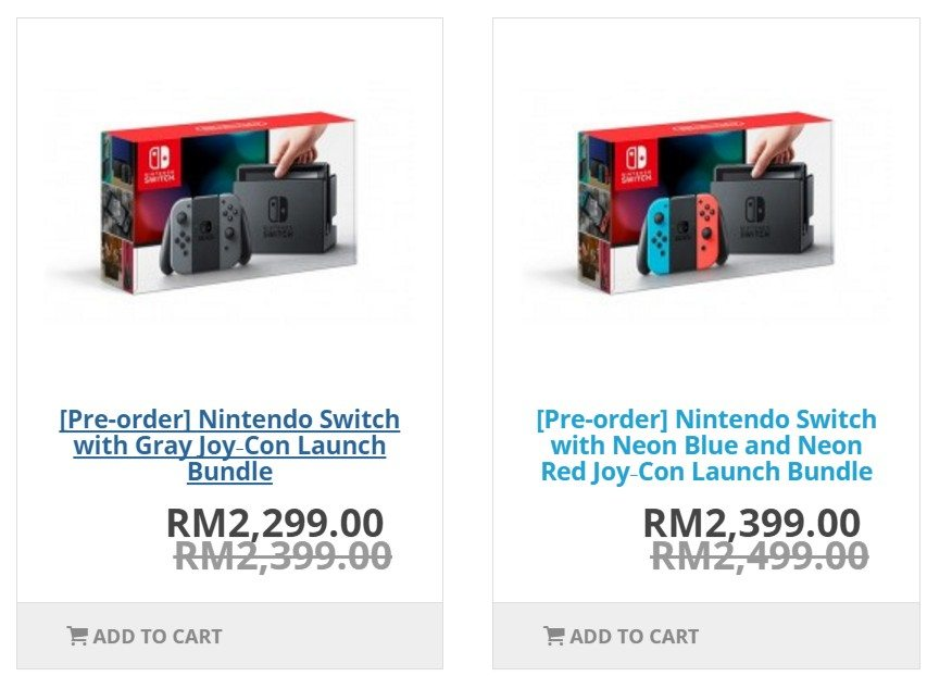 Nintendo Switch Singapore - We Have The Local Price And You