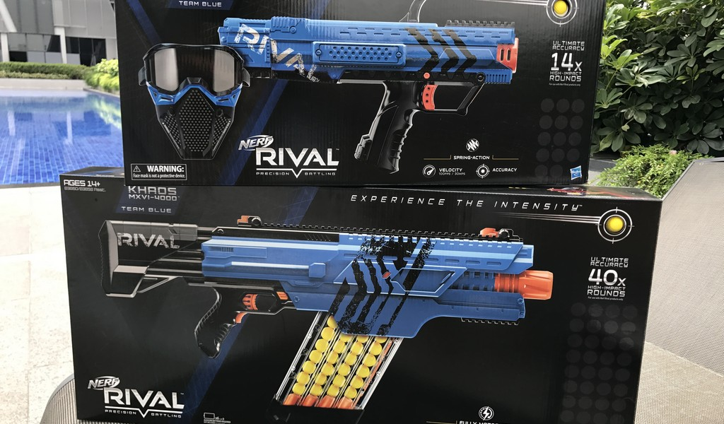 The difference in ammunition and design means that while it falls under the  Nerf umbrella, the Rival is like the earlier Vortex series where the  weapons are ...