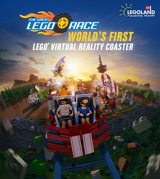 Take A Ride On The World's First LEGO VR Roller Coaster In