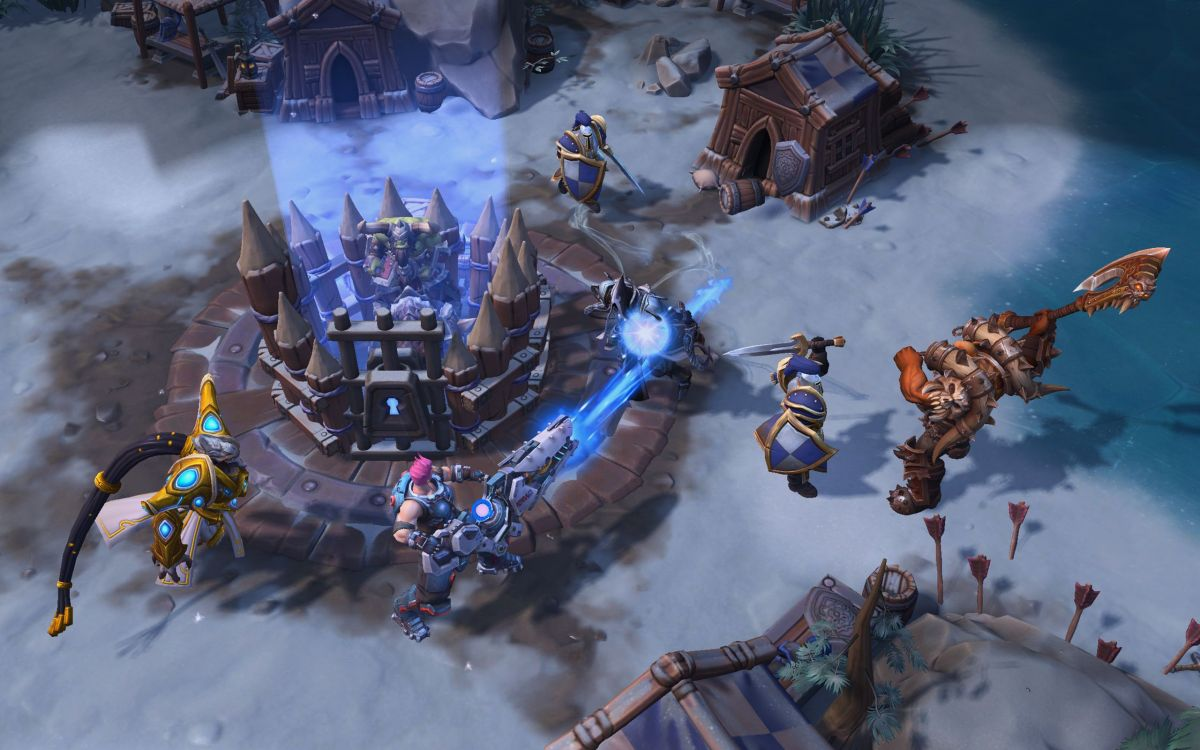 World of warcraft heads over to heroes of the storm with another new building on the game crossover is the implementation of a brand new battleground alterac pass borne from wows alterac valley map taking on a snow covered gumiabroncs Gallery