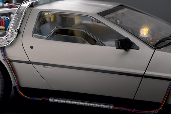 The side windows can be wound up or down, using a small wheel on the underside of the door.