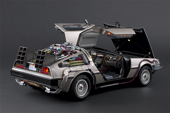 DeLoreans have lights on the sides of the gullwing doors and one inside the bonnet, which illuminates the luggage compartment.
