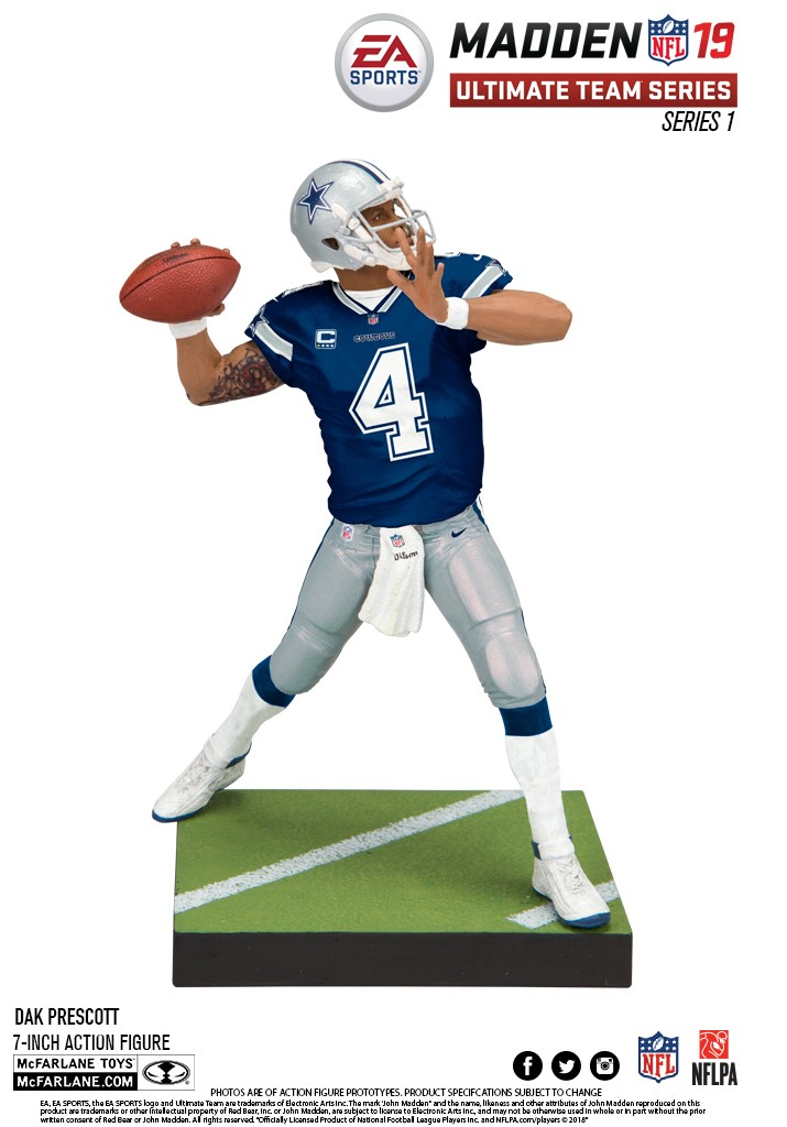 Madden NFL 19 figure of Dak Prescott