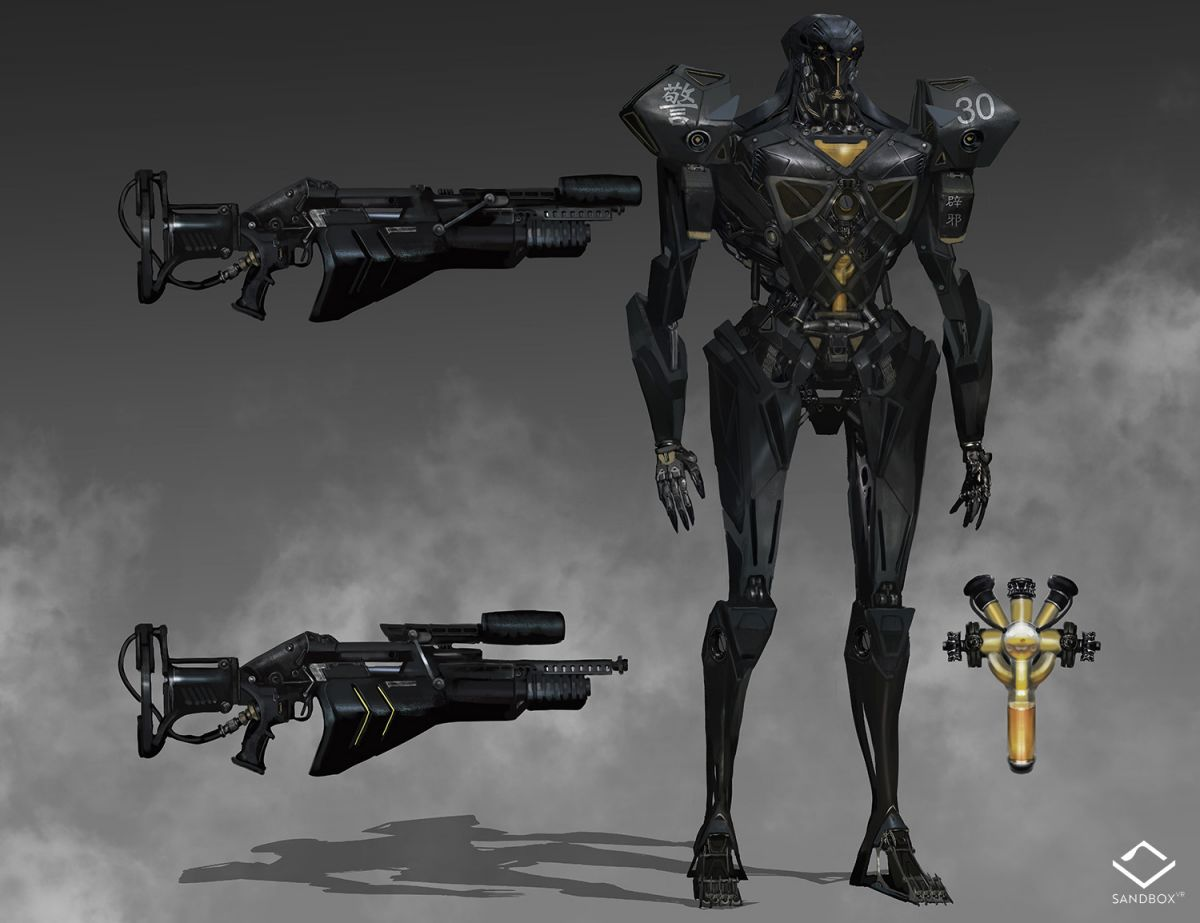 Attacker. Concept art by Michael Chang