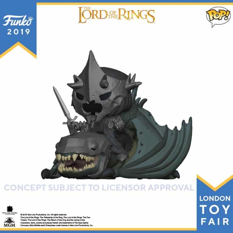 Lord of the Rings  Witch King of Angmar on a Fellbeast