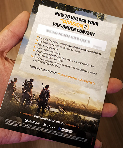 Geek Giveaway: Tom Clancy's The Division 2 Private Beta Keys