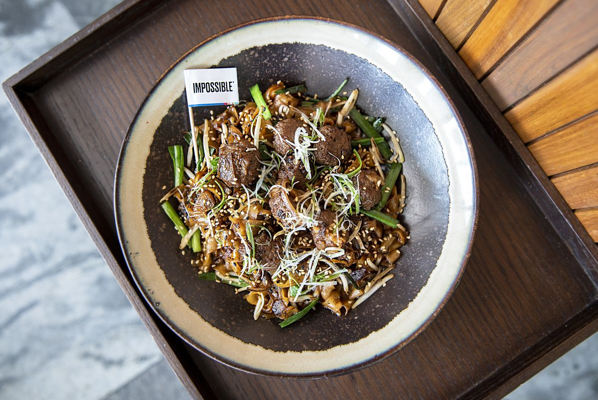 Dragon's Breath Fried Kuay Teow with Impossible Meatballs by Empress