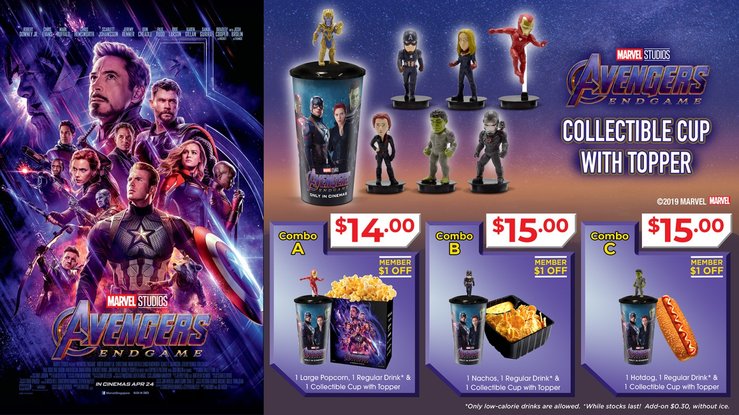 All The Avengers Endgame Singapore Cinema Goodies In One Place