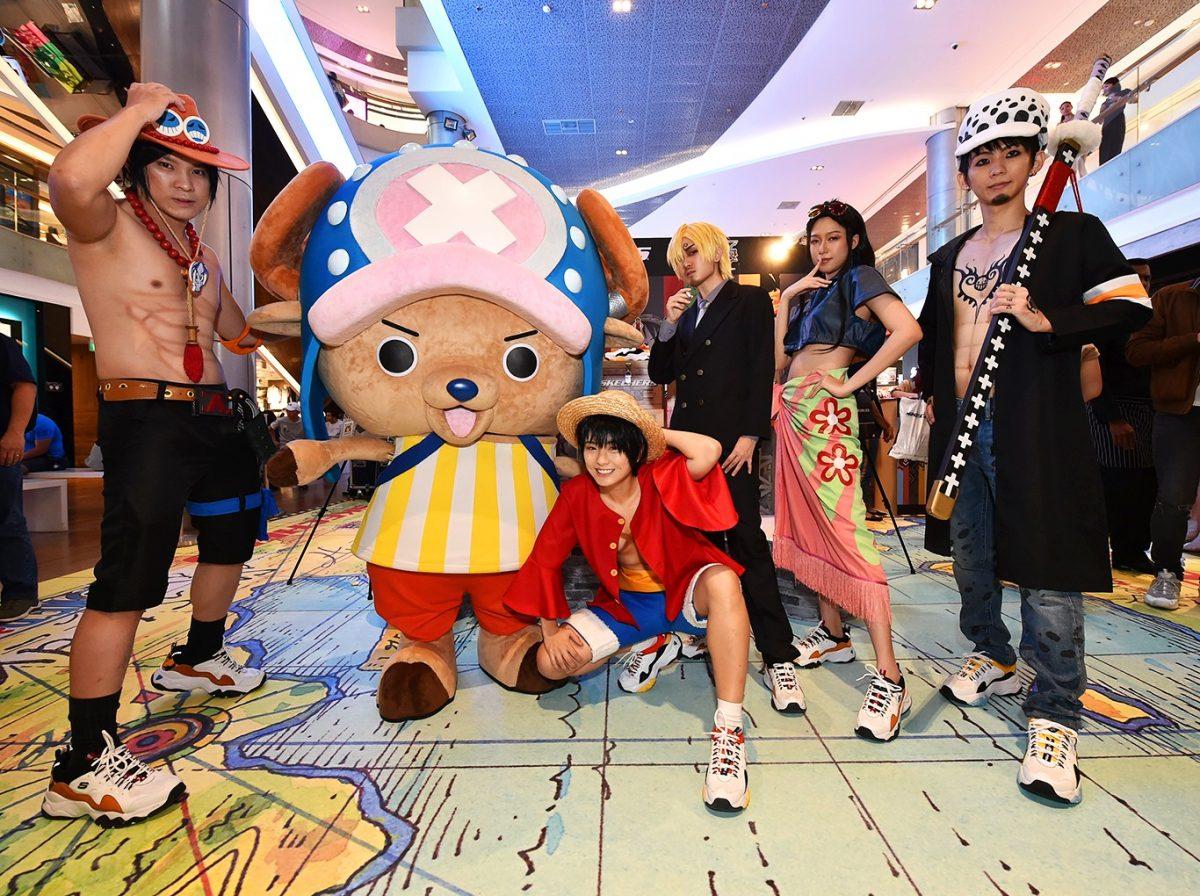 skechers one piece characters