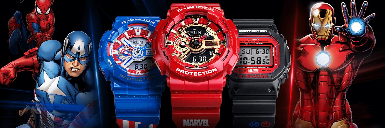 0272227dc8c G-Shock Watches Crosses Up With Marvel Just In Time For Avengers ...