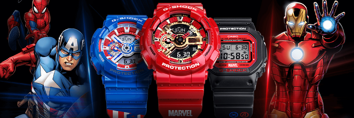 G-Shock Watches Crosses Up With Marvel Just In Time For