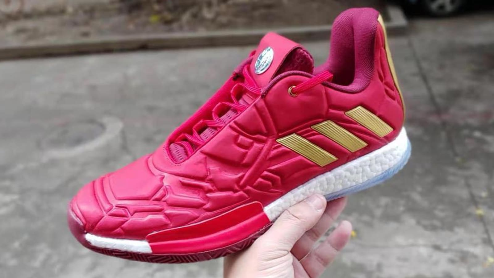 "8e9fdfd4cd78 Image credit  Sneakerhighway23. The Marvel x Adidas Harden Vol.3 "" ..."