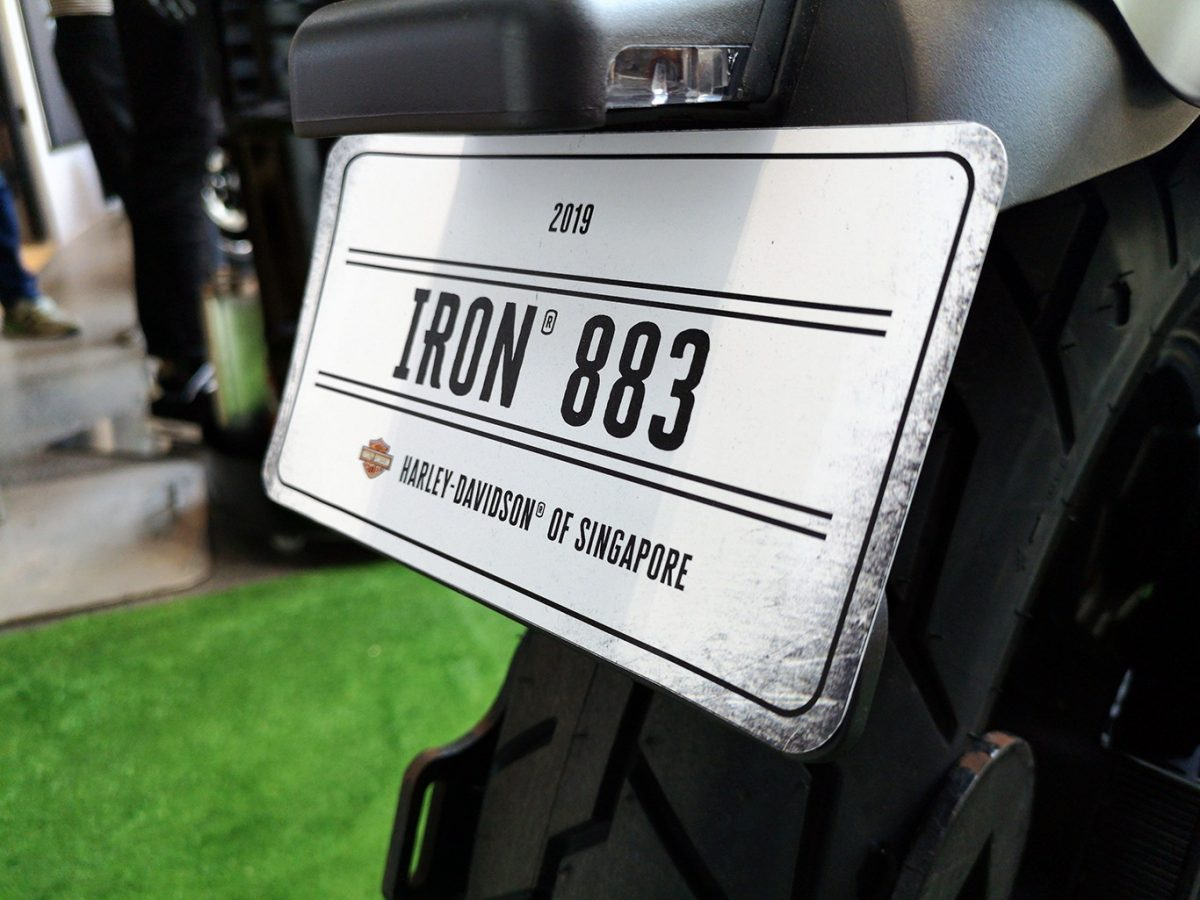 Harley-Davidson Targus Iron 883 Number