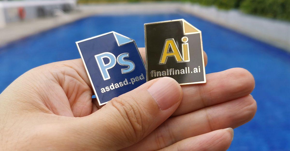 Adobe Photoshop & Illustrator Premium Enamel Pins