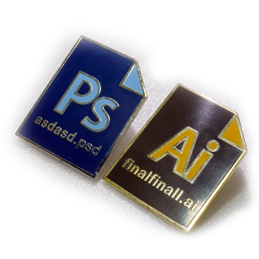 Adobe Photoshop & Illustrator Premium Enamel Pins