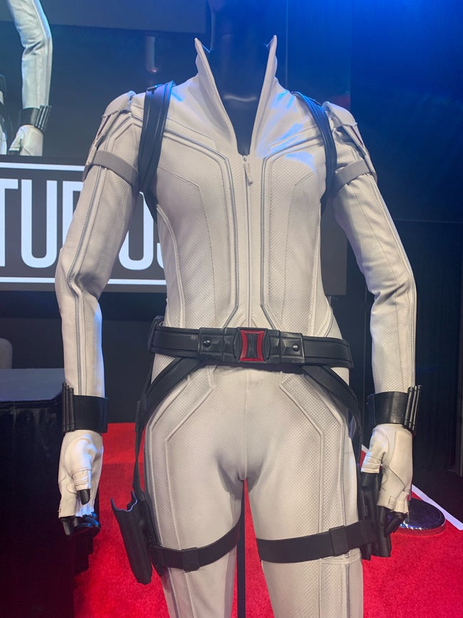 New All-White Black Widow Outfit Shown Off At D23 Expo 2019