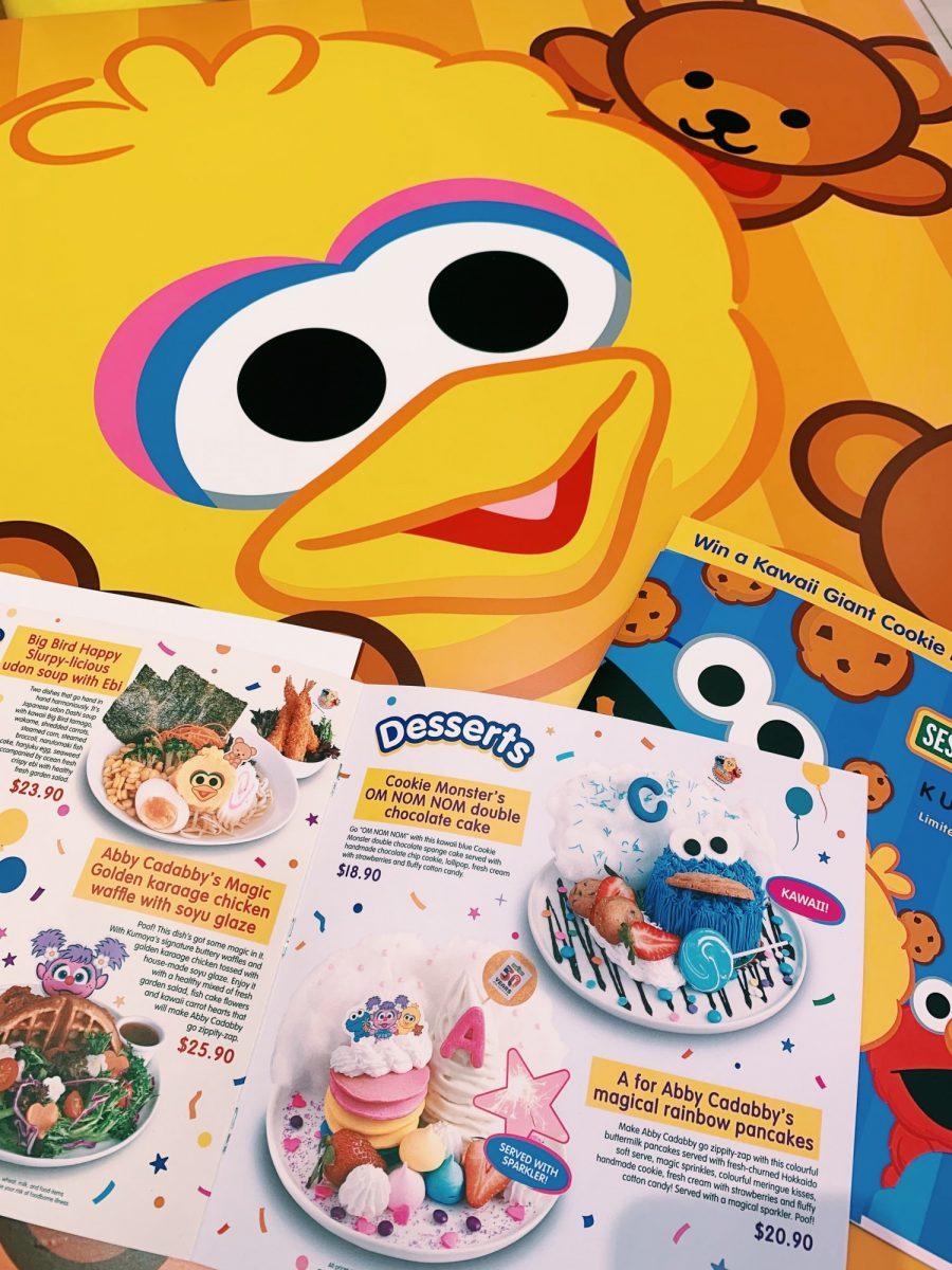 An entire Sesame Street-themed menu