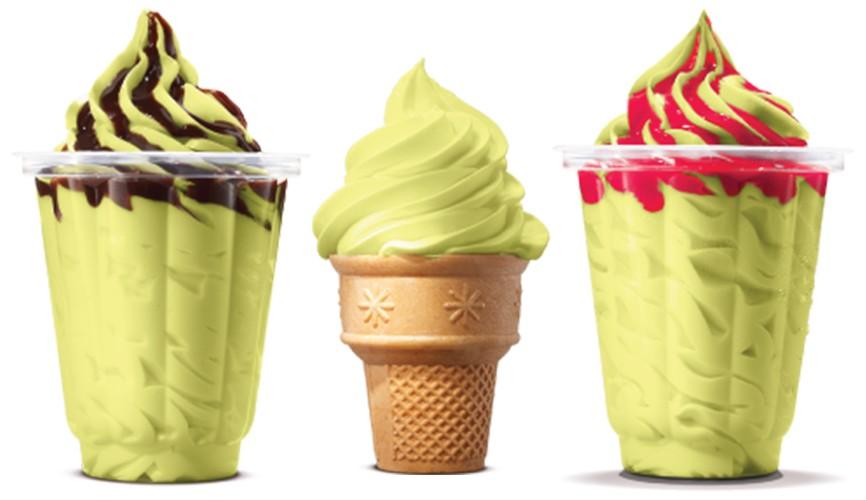 Burger King Banana Avocado Ice Cream Delights