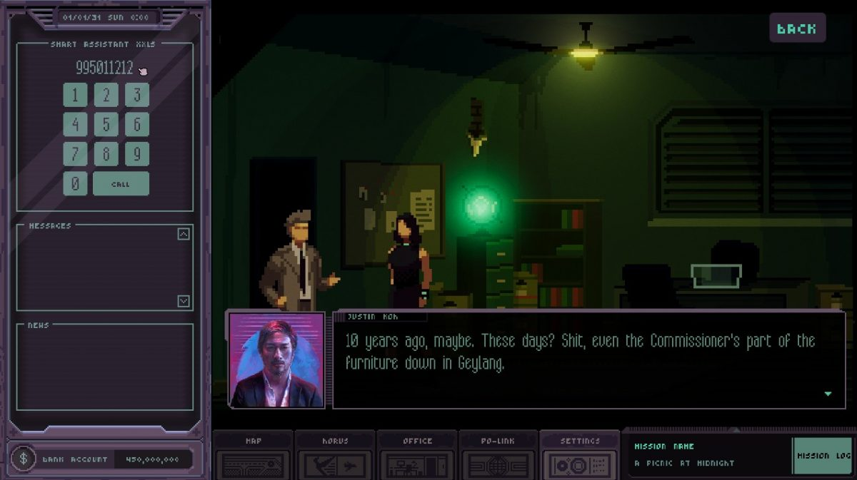 Singapore's Own Cyber-Noir Game Chinatown Detective Agency Releases In 2020