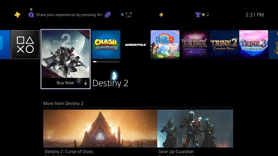 How The PS5 Is Striving For Gaming Excellence With New, Enhanced Technology - PS4 dashboard