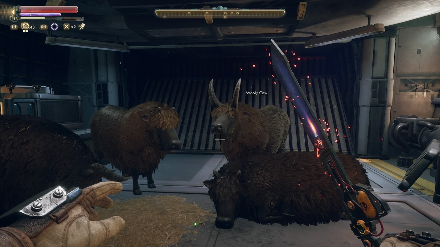 outer worlds wooly cows on ship